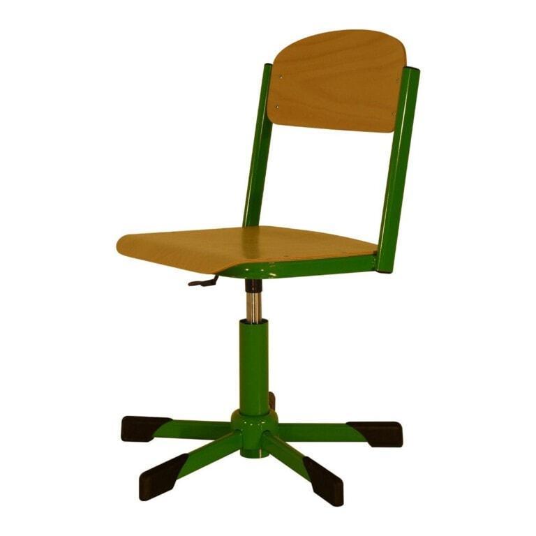 Školní židle otočná Trend, výškově nastavitelná s kluzáky