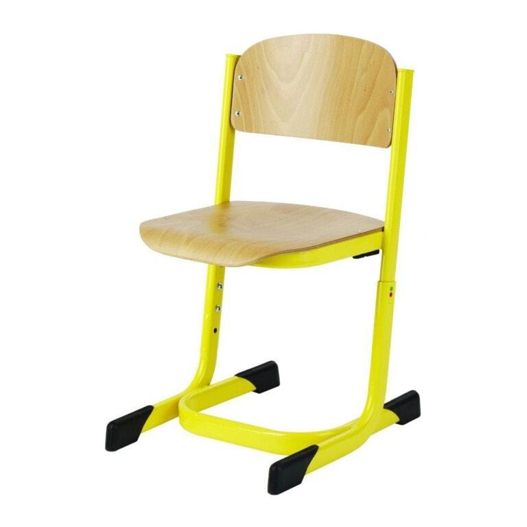 Školní židle Prim výškově nastavitelná žlutá