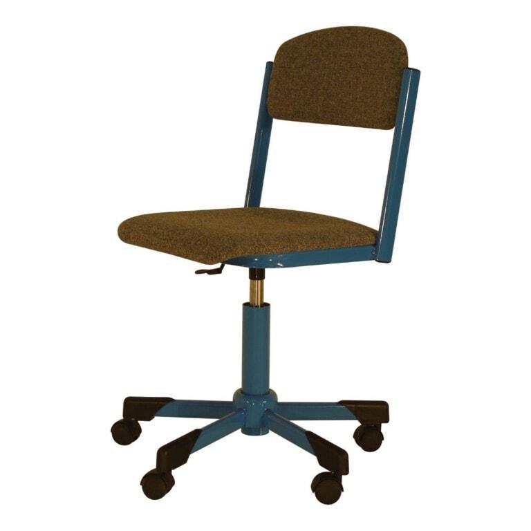 Školní židle otočná Trend, výškově nastavitelná s kolečky, čalouněná