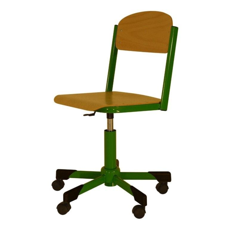 Školní židle otočná Trend, výškově nastavitelná s kolečky