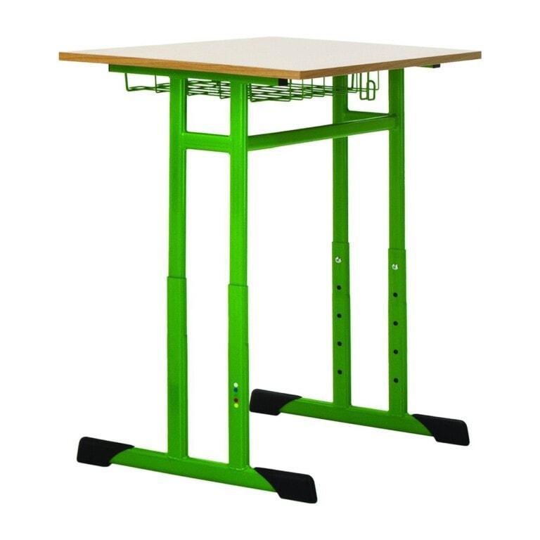 Školní lavice jednomístná Prim, výškově nastavitelná zelená