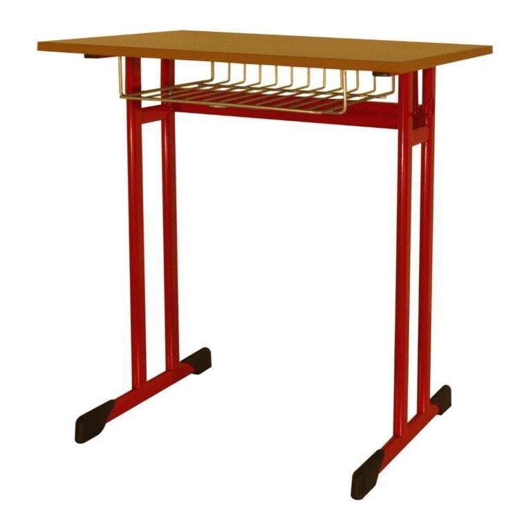 Školní lavice jednomístná Trend, 670x500 mm červená