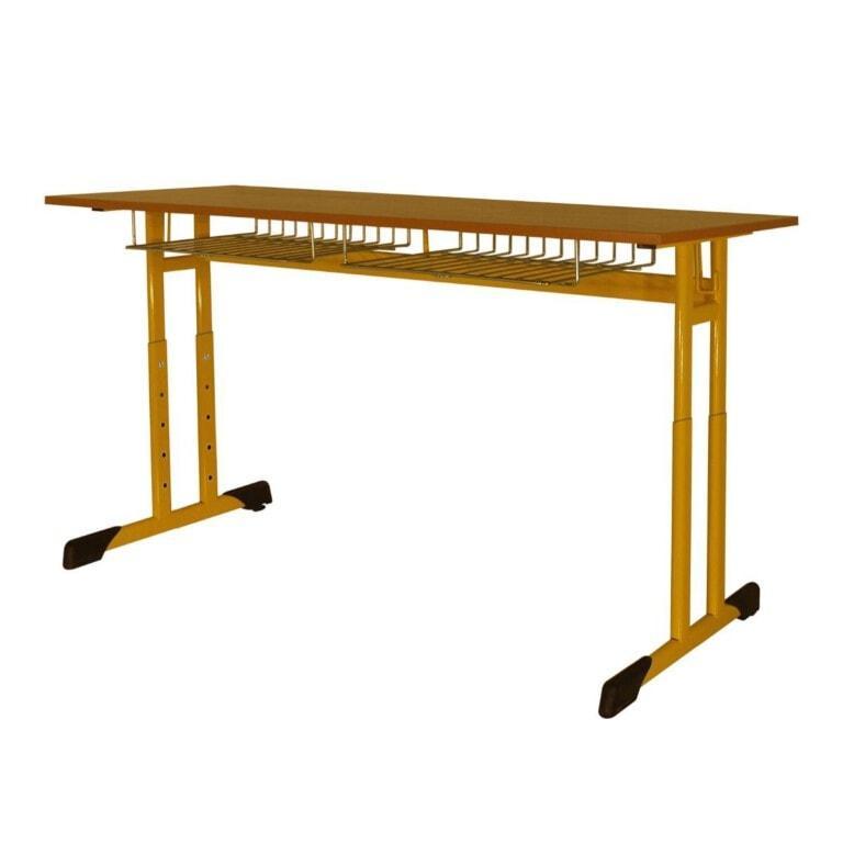 Školní lavice doumístná Trend, výškově nastavitelná, 670x500 mm žlutá