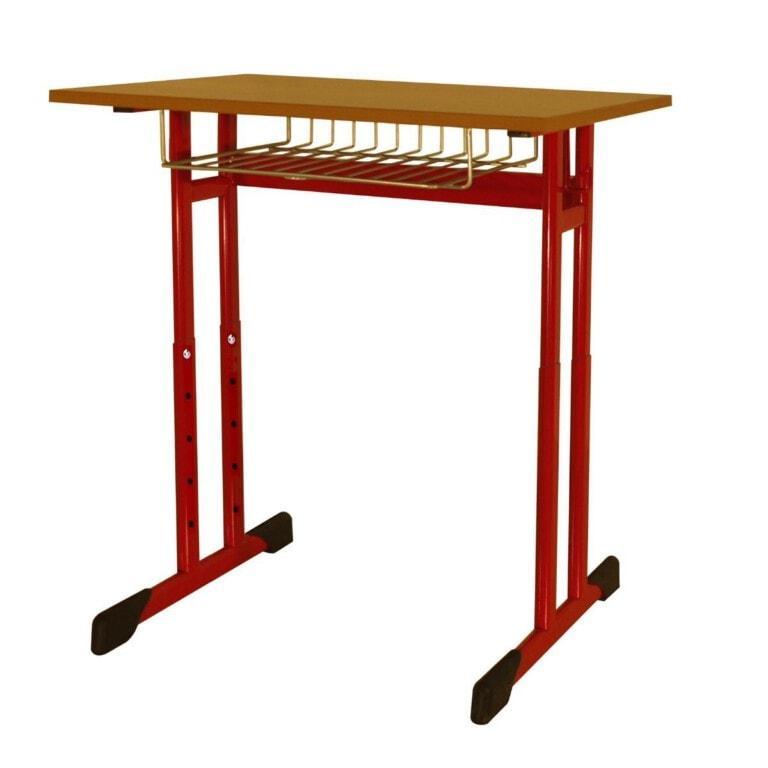 Školní lavice jednomístná Trend, výškově nastavitelná, 670x500 mm červená