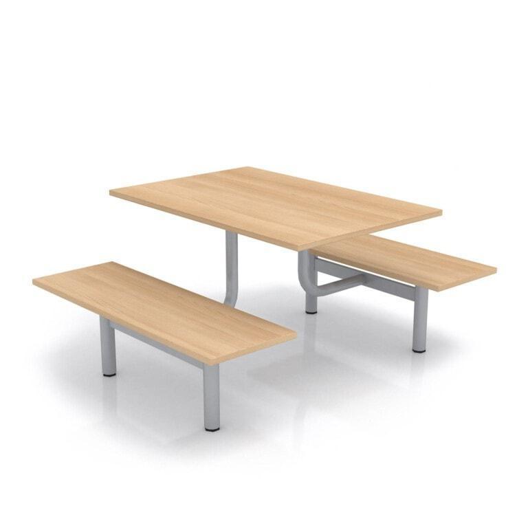 Školní jídelní set s lavicemi, deska lamino