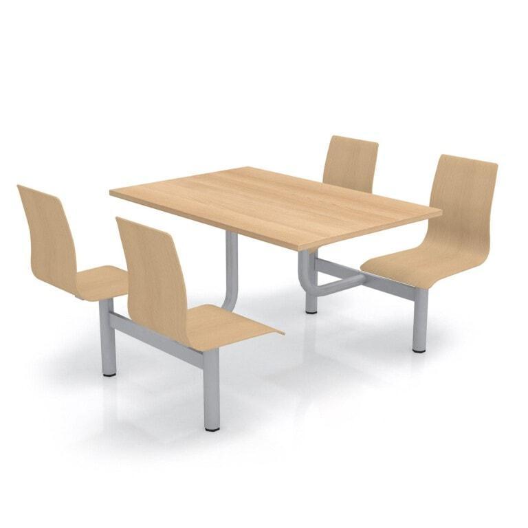 Školní jídelní set s překližkovými sedáky, deska lamino