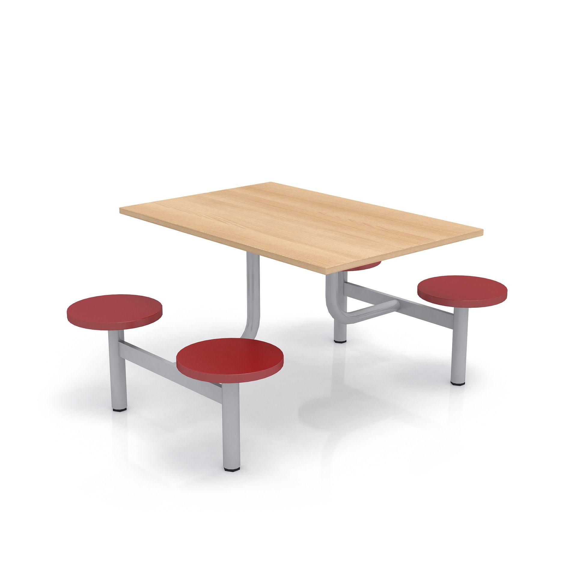 Školní jídelní set s plastovými sedáky, deska lamino
