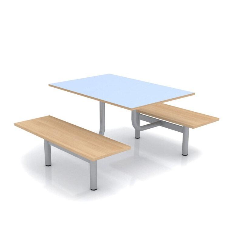 Školní jídelní set s lavicemi, deska umakart