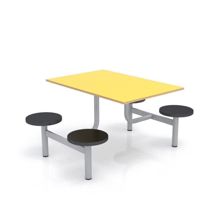 Školní jídelní set s plastovými sedáky, deska umakart