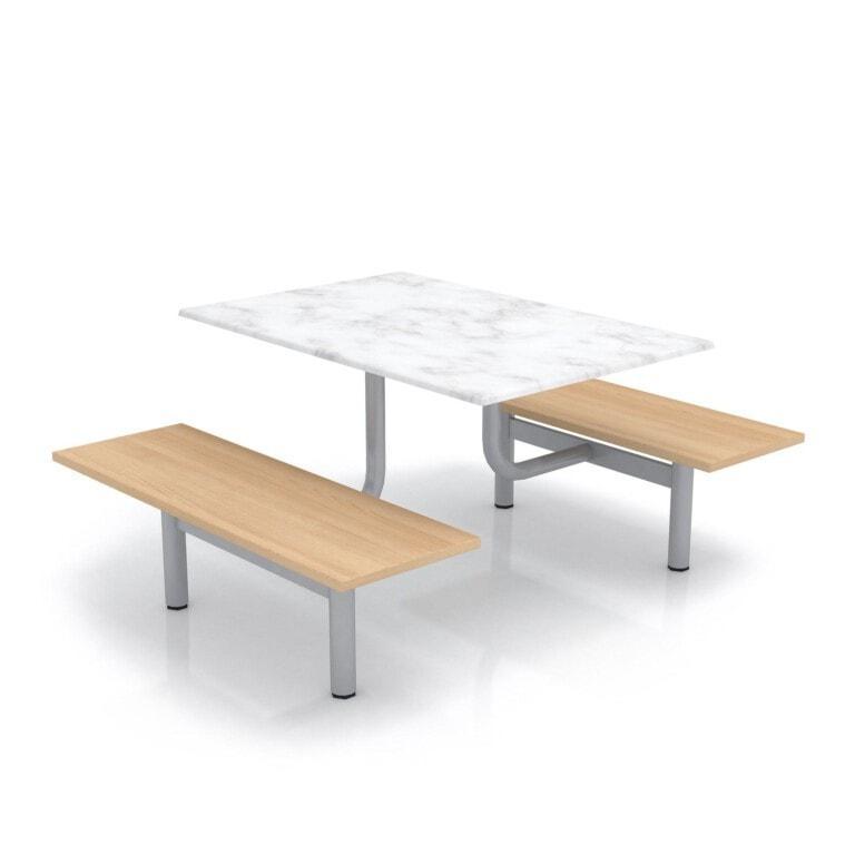 Školní jídelní set s lavicemi, deska werzalit