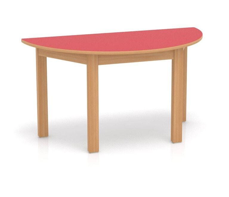 Dětský stůl Fantasy půlkruh, 1200 mm