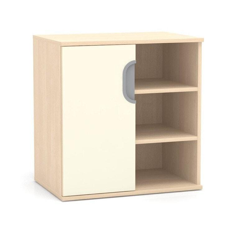 Nízká skříňka Fantasy, 3x police, levé dveře, 706 mm