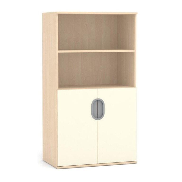 Nízká skříň Fantasy, dveře, 2x police, 800 mm