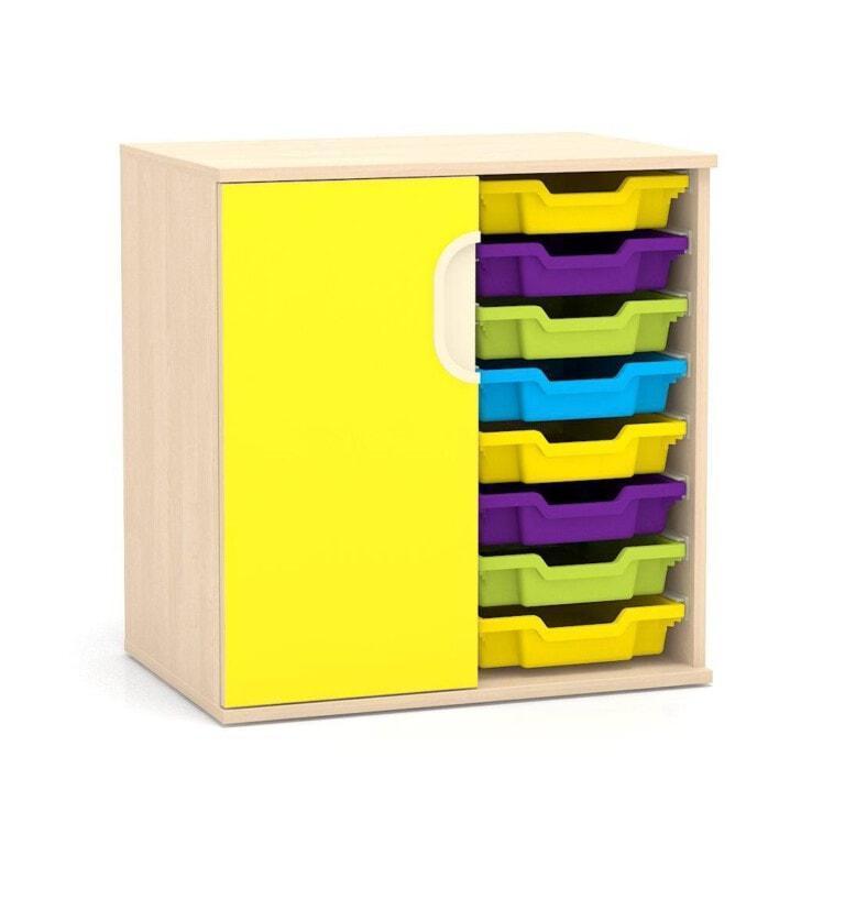 Nízká skříňka Fantasy, vodicí lišty pro boxy, levé dveře, 706 mm_2