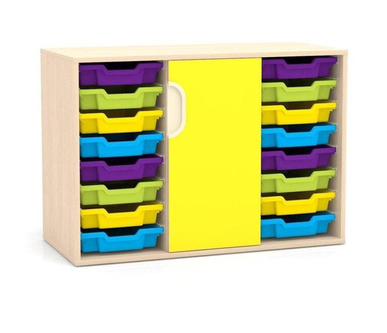 Nízká skříňka Fantasy, dveře, vodicí lišty pro boxy, 1049 mm_3