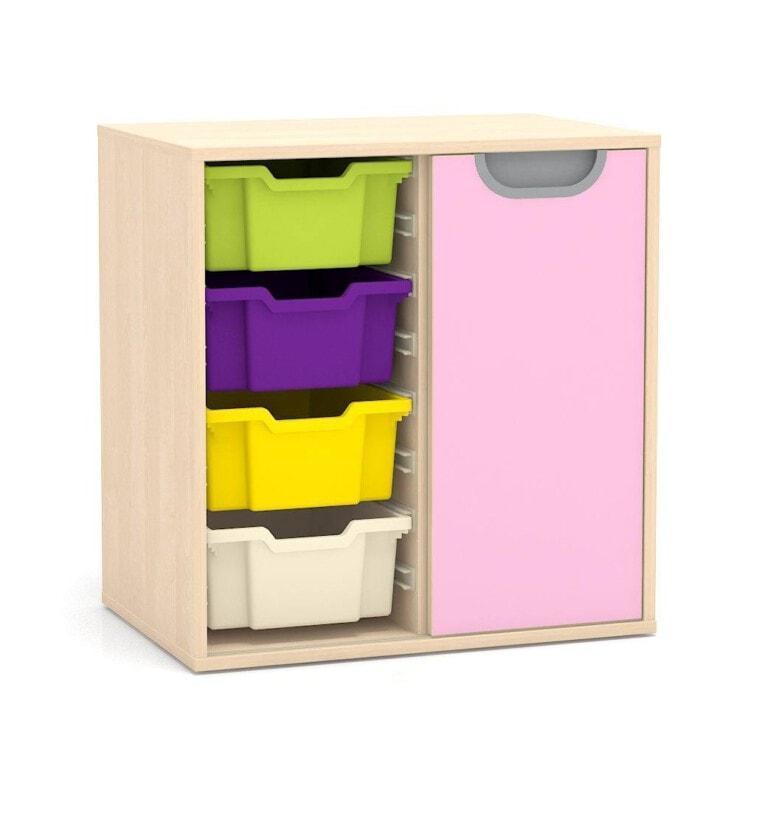 Nízká skříňka Fantasy, vodicí lišty pro boxy, pravé posuvné dveře, 706 mm_1