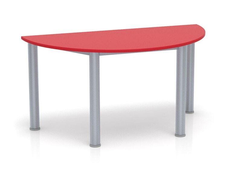 Dětský stůl Fantasy půlkruh, výška 600 - 710 mm červená