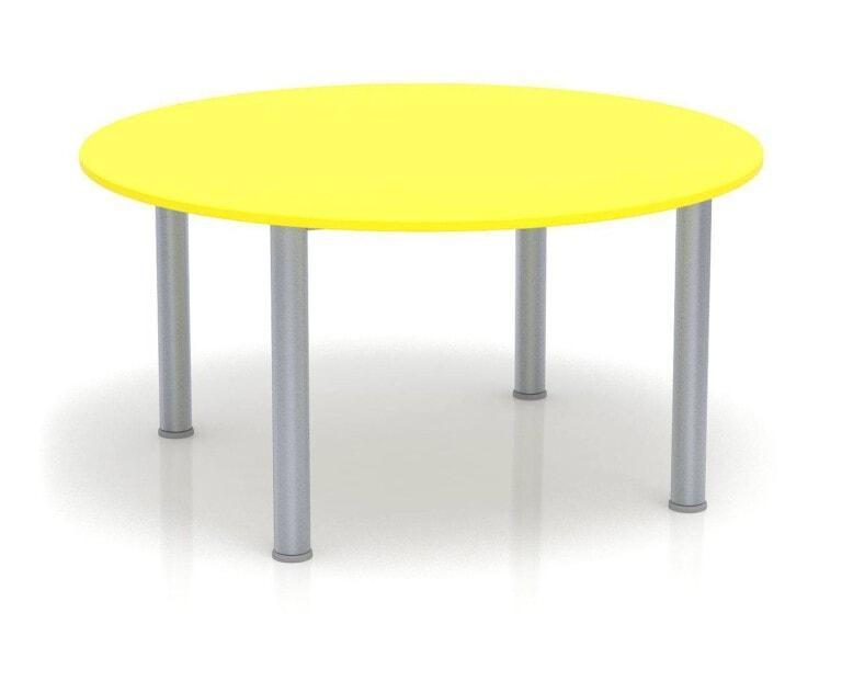Dětský stůl Fantasy kulatý, výška 600 - 710 mm žlutá