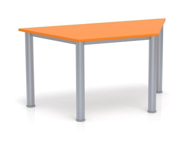 Dětský stůl Fantasy lichoběžník, výška 600 - 710 mm oranžová