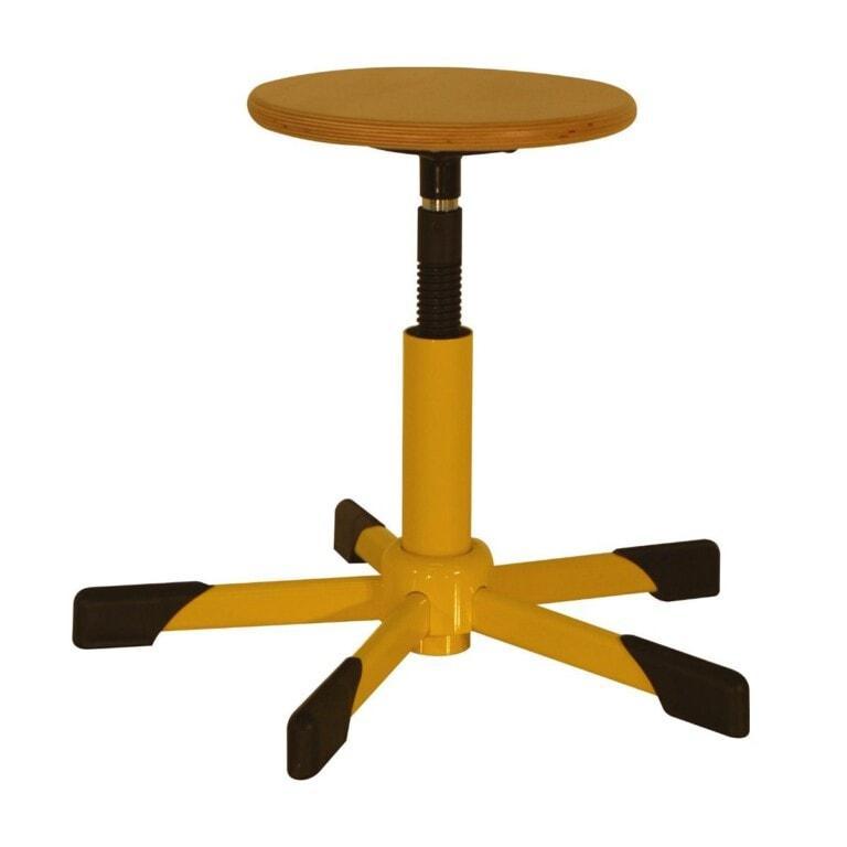 Dílenská taburetka Trend, výškově nastavitelná žlutá