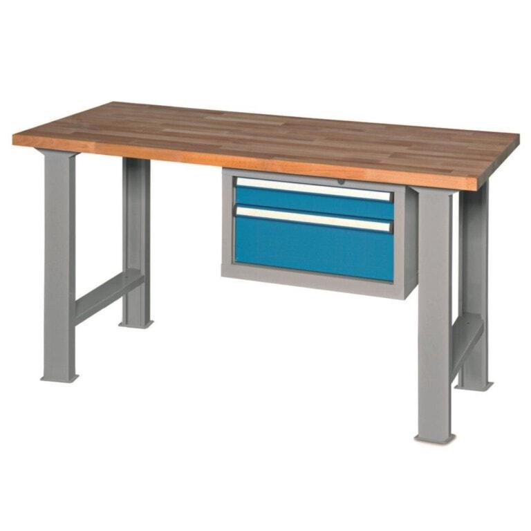 Stůl do dílny s 2 zásuvkami - dílenský stůl