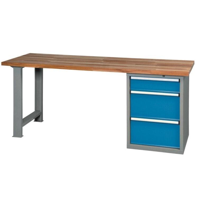 Stůl do dílny s 3 zásuvkami - dílenský stůl
