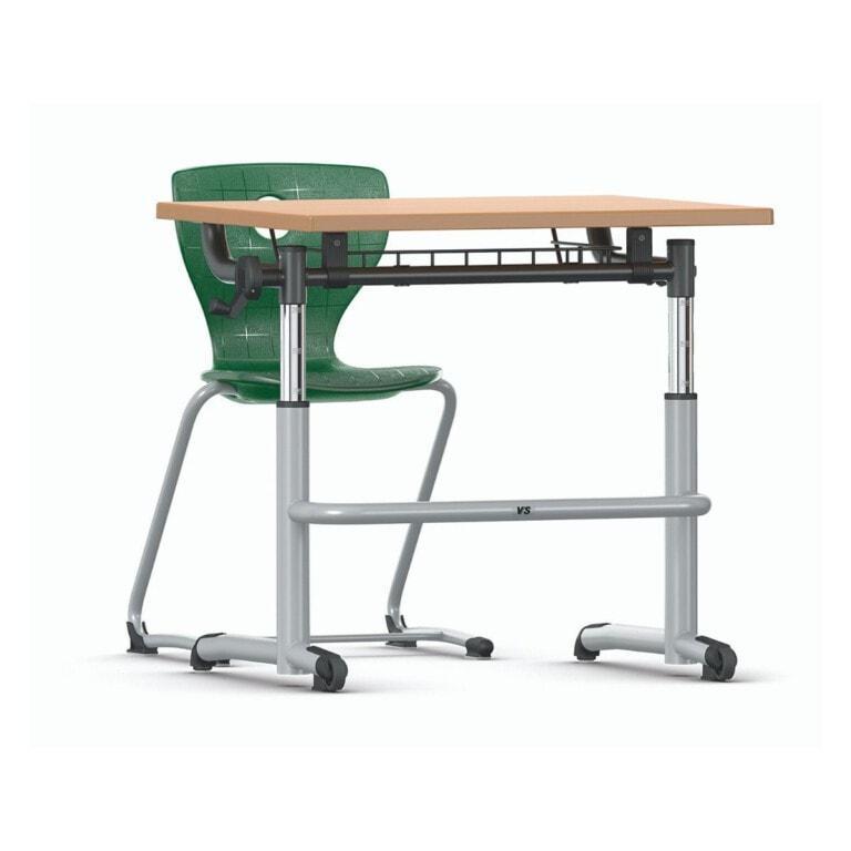 Výškově nastavitelná školní lavice Vision