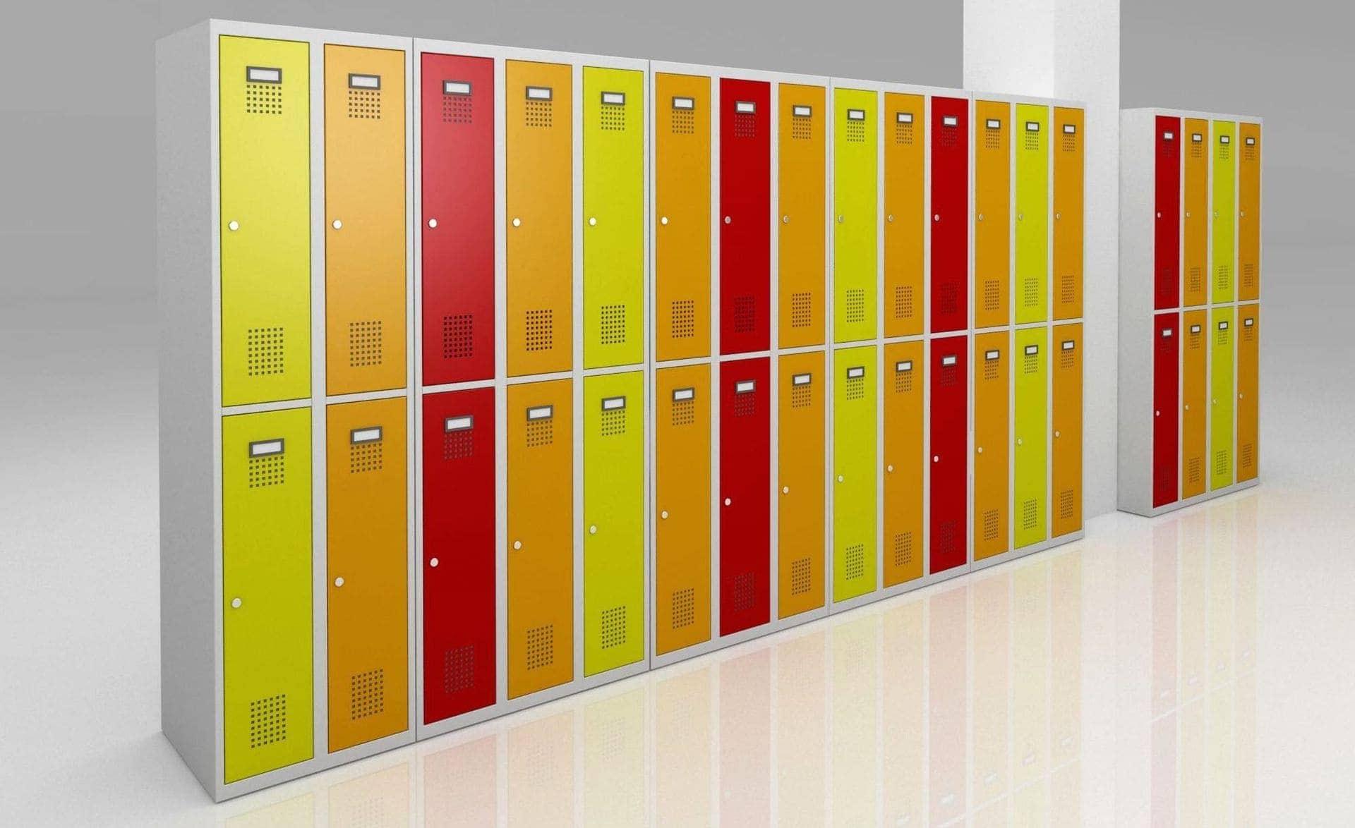 návrh barevné kombinace šatních skříněk A