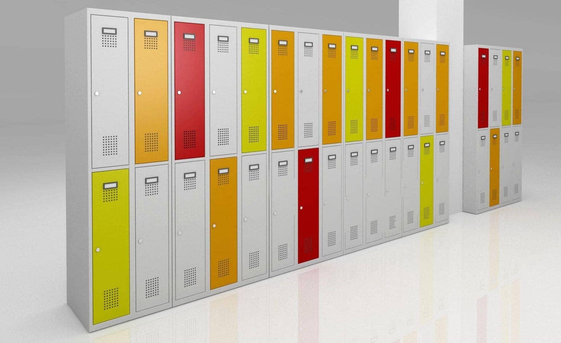návrh barevné kombinace šatních skříněk D