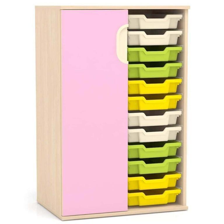 Vysoká skříňka Fantasy, levé dveře, vodicí lišty pro boxy, 706 mm