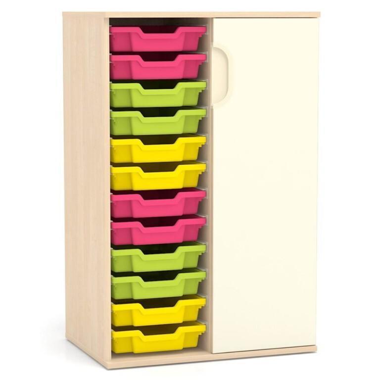 Vysoká skříňka Fantasy, pravé dveře, vodicí lišty pro boxy, 706 mm