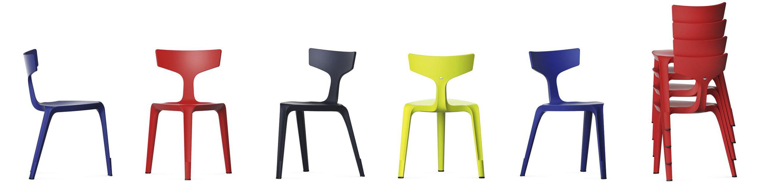 Trojnohá plastová židle Stakki