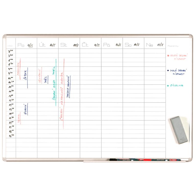 plánovací tabule na týden